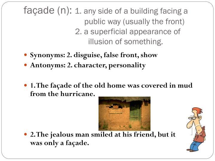 façade (n):