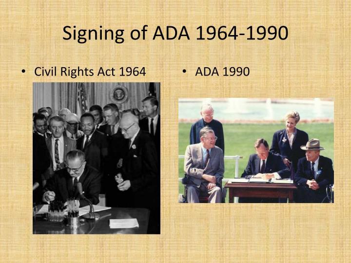 Signing of ADA 1964-1990