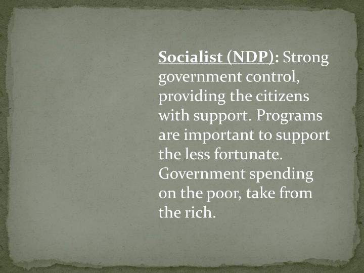 Socialist (NDP)