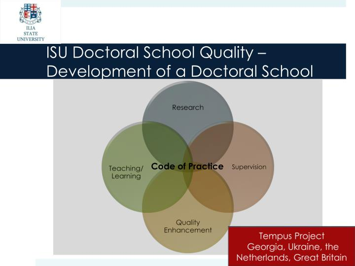 ISU Doctoral School Quality –