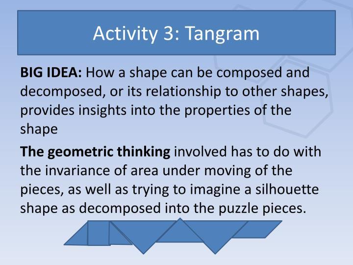 Activity 3: Tangram