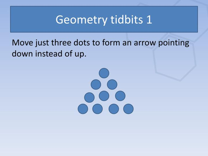 Geometry tidbits 1