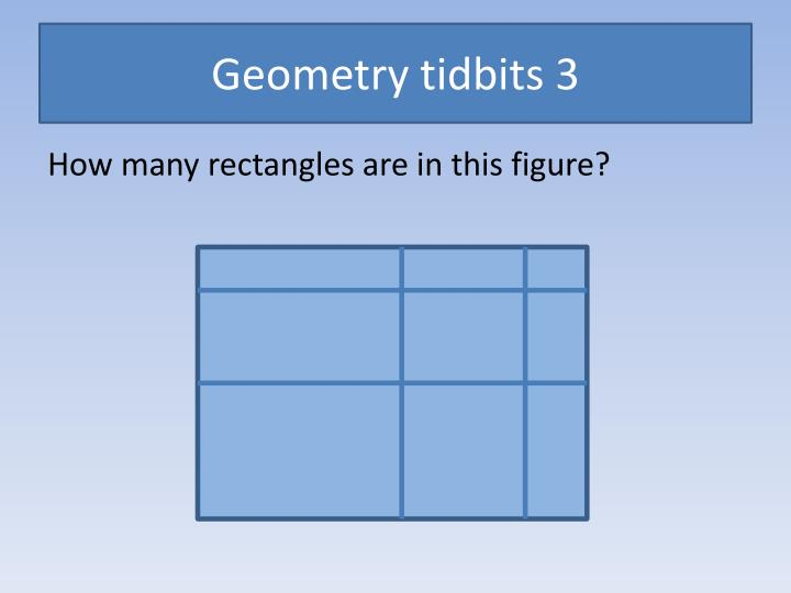 Geometry tidbits 3