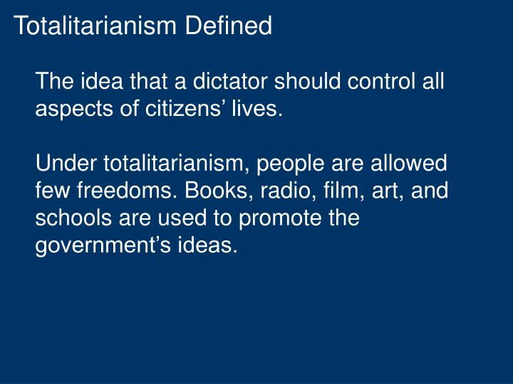 Totalitarianism Defined