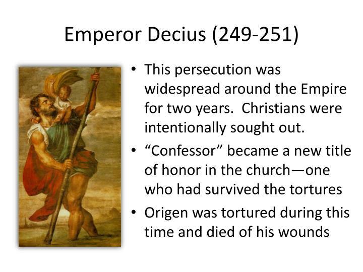 Emperor Decius (249-251)