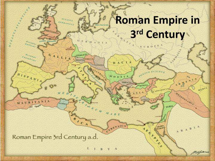 Roman empire in 3 rd century