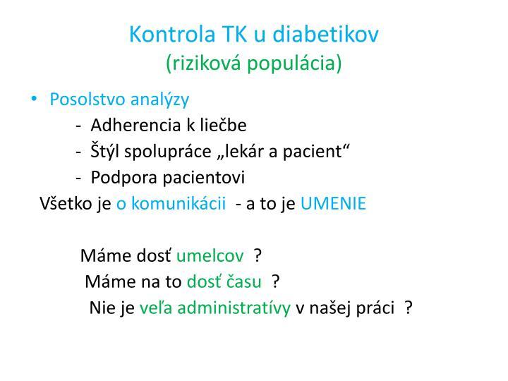 Kontrola TK u diabetikov