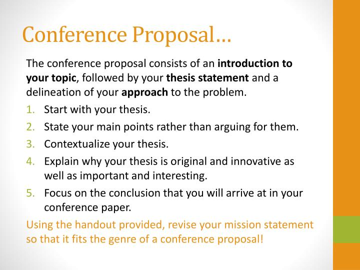 Conference Proposal…