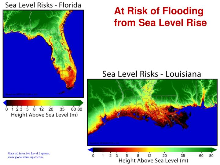 At Risk of Flooding from Sea Level Rise