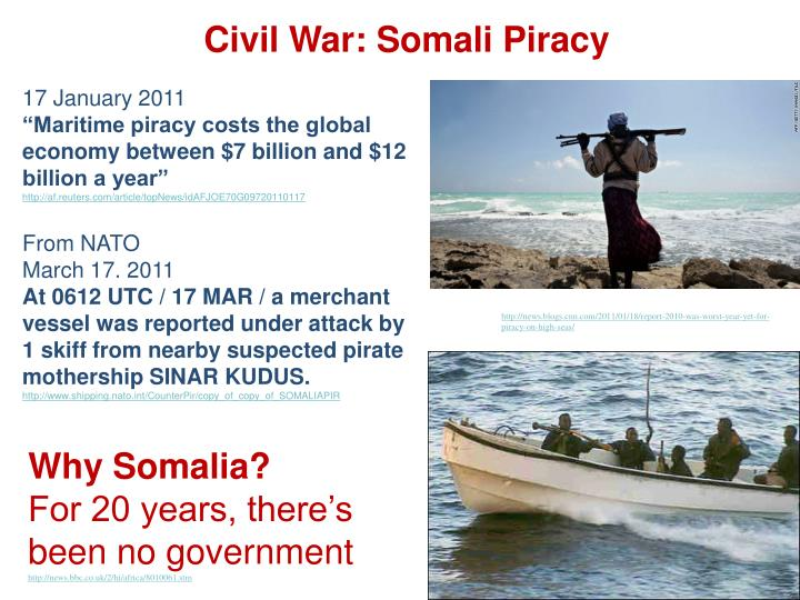 Civil War: Somali Piracy
