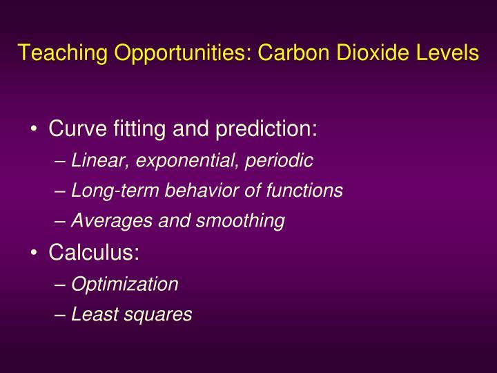 Teaching Opportunities: