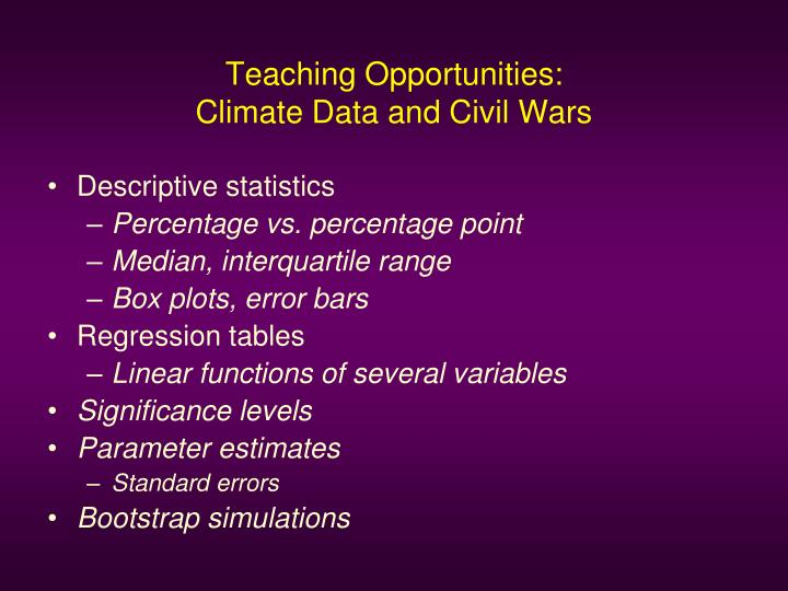 Teaching Opportunities: