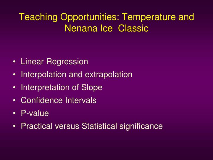 Teaching Opportunities: Temperature