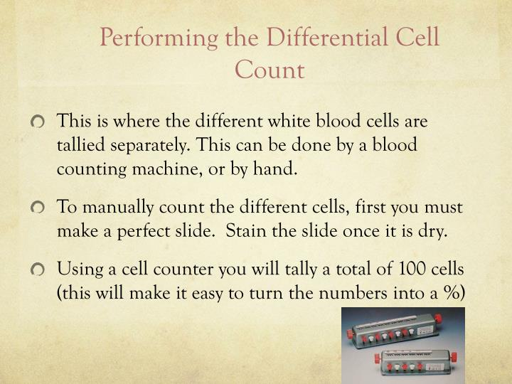 Performing the Differential Cell Count
