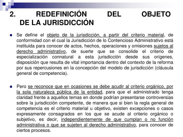 2. REDEFINICIÓN DEL OBJETO