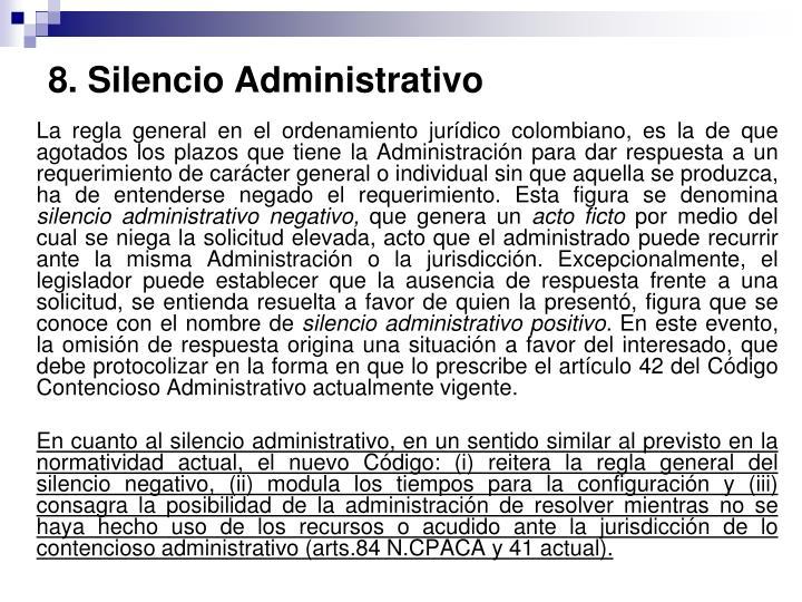 8. Silencio Administrativo