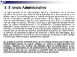8 silencio administrativo