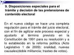 9 disposiciones especiales para el tr mite y decisi n de las pretensiones de contenido electoral