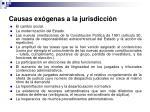causas ex genas a la jurisdicci n