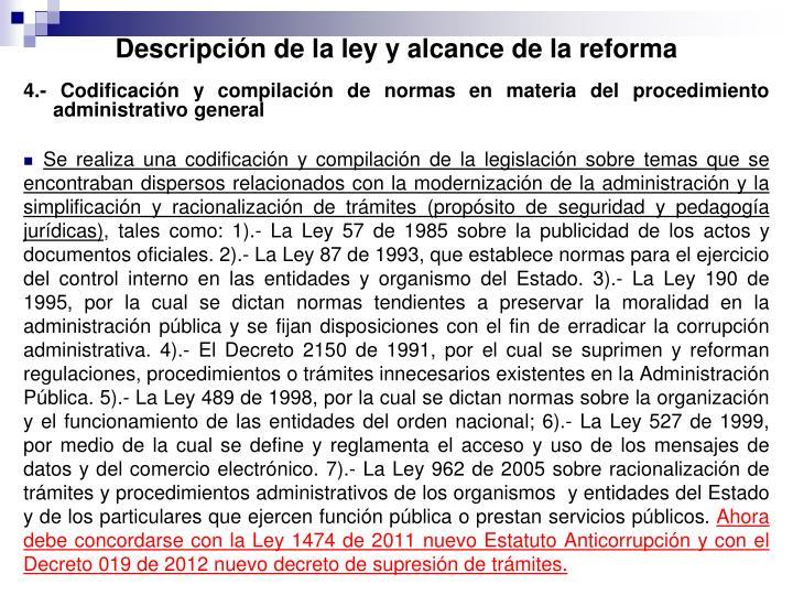 Descripción de la ley y alcance de la reforma