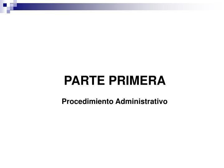 PARTE PRIMERA