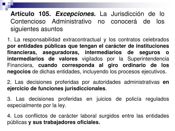 Artículo 105.
