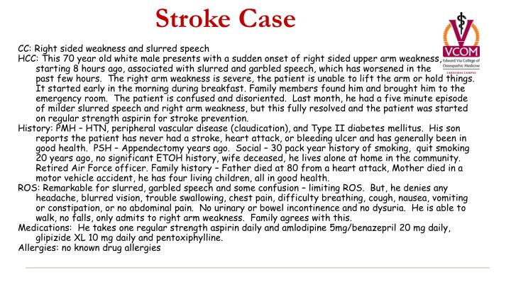 PPT - Stroke Case PowerPoint Presentation - ID:2107712