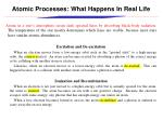 atomic processes what happens in real life