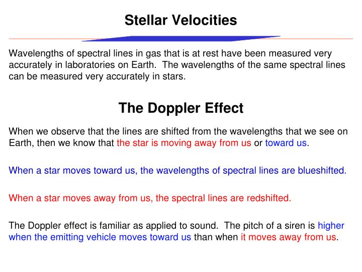 Stellar Velocities