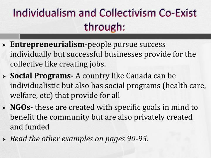 Individualism and Collectivism Co-Exist through: