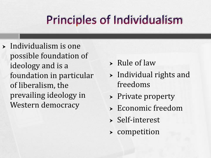 Principles of Individualism