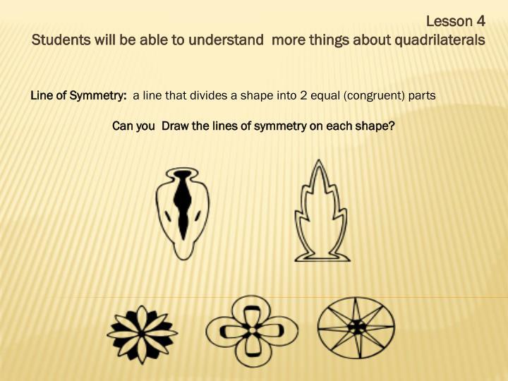 Line of Symmetry: