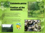 po o enie gminy position of the municipality