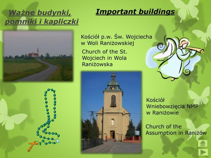 Important buildings