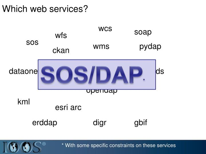 Which web services?