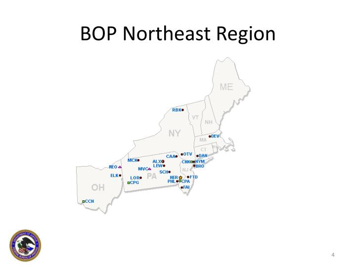 BOP Northeast Region