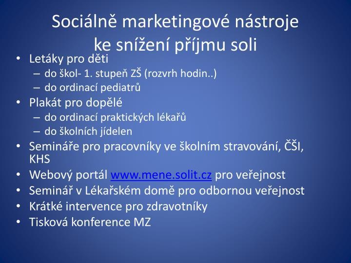 Sociálně marketingové nástroje
