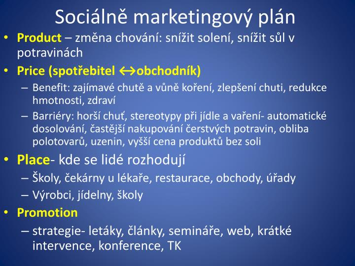 Sociálně marketingový plán