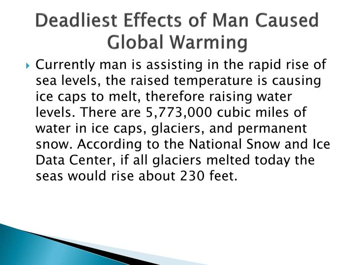 Deadliest Effects of Man Caused Global Warming