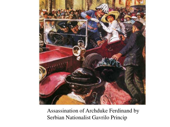 Assassination of Archduke Ferdinand by Serbian Nationalist