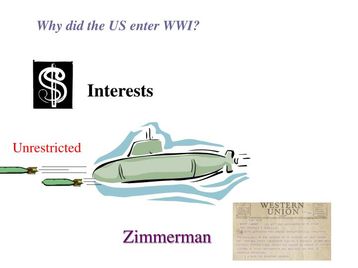 Why did the US enter WWI?