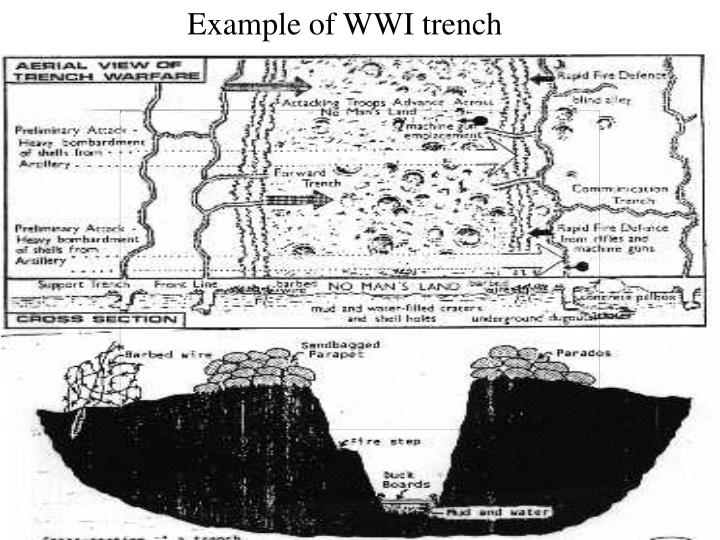 Example of WWI trench