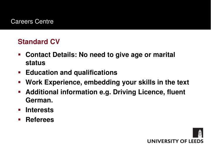 Standard CV