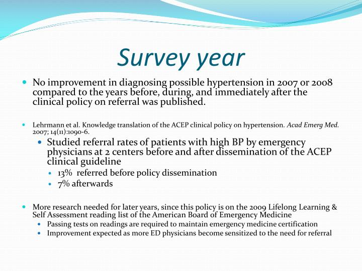 Survey year