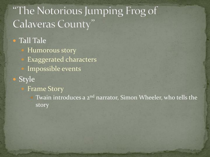the notorious jumping frog of calaveras county humor