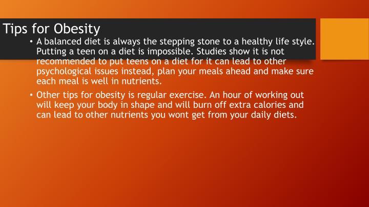 Tips for Obesity