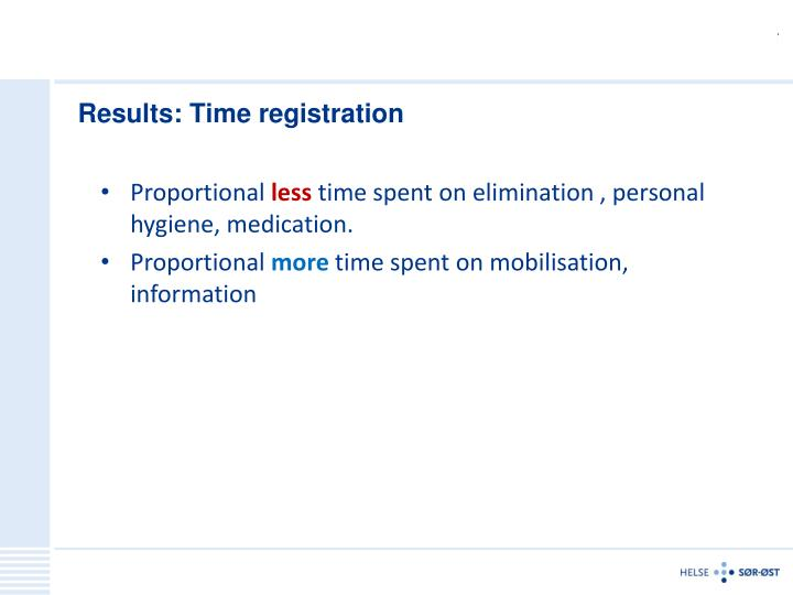 Results: Time registration