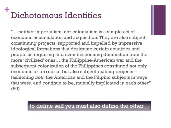 Dichotomous Identities