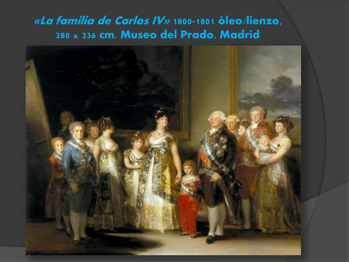 «La familia de Carlos IV»
