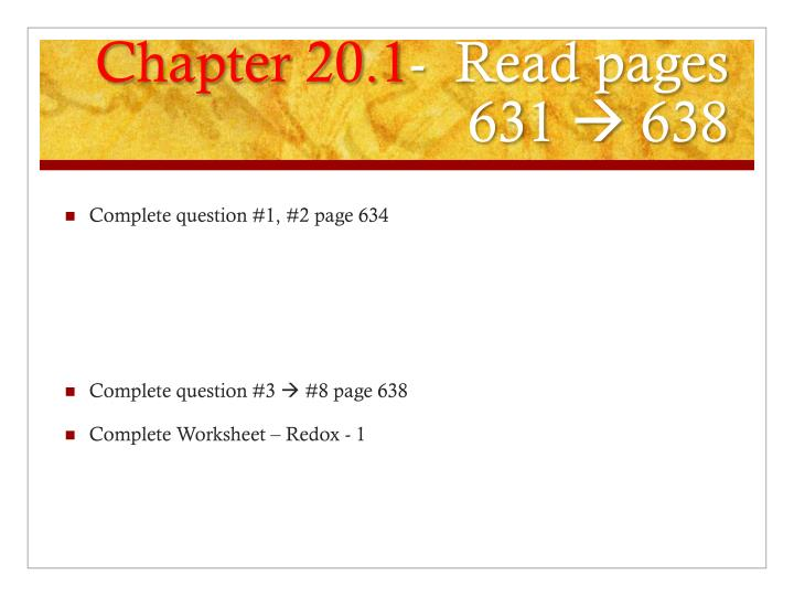 PPT OxidationReduction Reactions PowerPoint Presentation ID – Chapter 20 Worksheet Redox